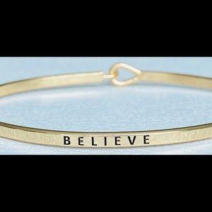 Believe inspired bangle bracelet